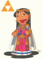 Lilo as Princess Zelda (Lilo+Stitch) by jajuruns90rebels