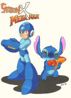Stitch X Mega Man (Lilo+Stitch) by jajuruns90rebels