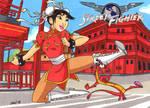 Fa Mulan as Chun Li (Street Fighter) by jajuruns90rebels