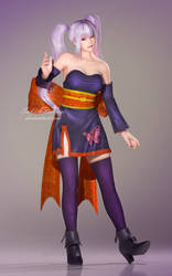Dead or Alive 5 Last Round - Ayane Butterfly by SabishikuKage