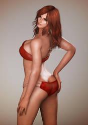 Tekken 7 - Katarina Alves Red Bikini by SabishikuKage