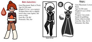 Gemsona #7: Red Calcite and Onyx by TheUltimateMagikarp