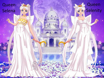 Queen Selenity and Queen Selena by Lady1Venus
