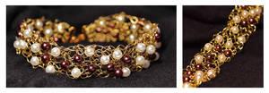 Knitted Bracelet by oasiaris
