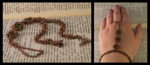 Byzantine Ring/Bracelet Combination by oasiaris
