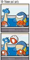 Pokemon pool party by BrokenTeapot