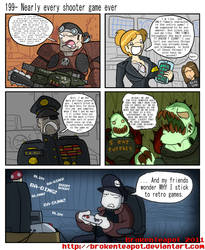 Nearly every shooter game ever by BrokenTeapot