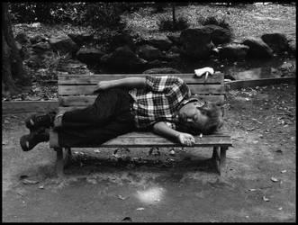 Old man sleeping by otislifts
