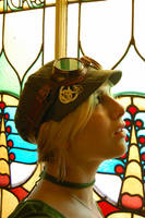 Steampunk goggles-and hat by TheLily-AmongThorns