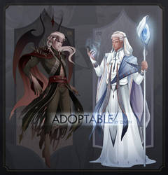 [CLOSED] Adoptable - Demon and Priest by zenithy90