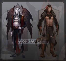 [CLOSED] Halloween Adoptable - Vampire/Werewolf by zenithy90