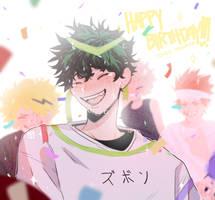 Happy Birthday, Deku!!! by milkutwan