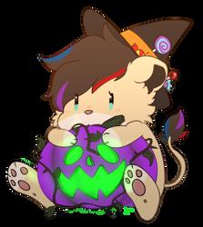Little spook for little lioness :3 by kikyoyaoi