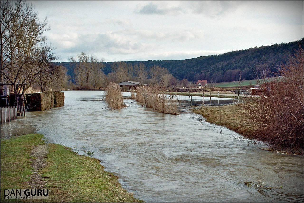 Bavarian Floods - Creek by RoqqR