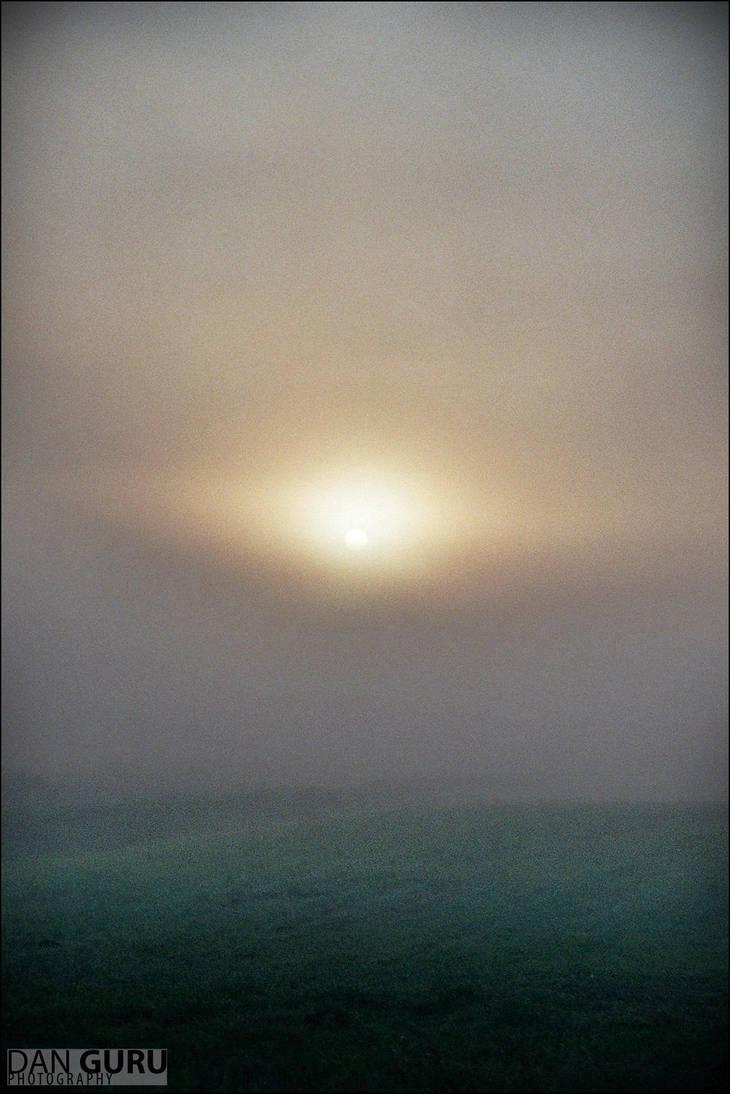 Through Fog - The Sun by RoqqR