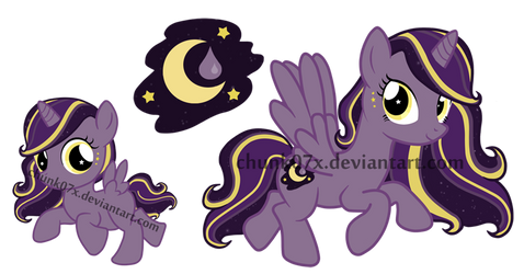 My Little Pony Adoptable - Moon Drop by teddy-beard