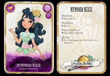 Ever After High Oc Card - Nymphaea Nixie by teddy-beard