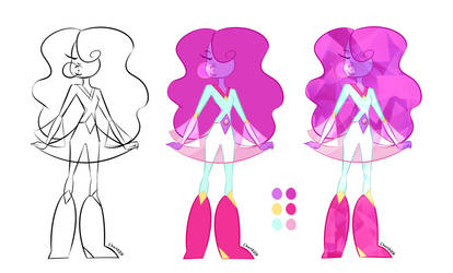 Steven Universe Oc - BubbleGum Opal by teddy-beard