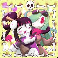 Mari and Shizuka by chienu