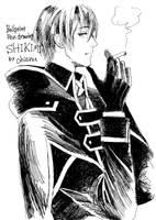 Shikimi Ballpointpen drawing by chienu