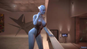 Mass Effect 3: Asari in Anderson's apts. [Bodice] by sedemsto