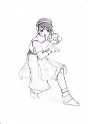 Toph sketch by LoverSHOT