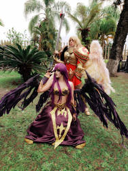 Morgana and Kayle cosplay by TheSweetAmy