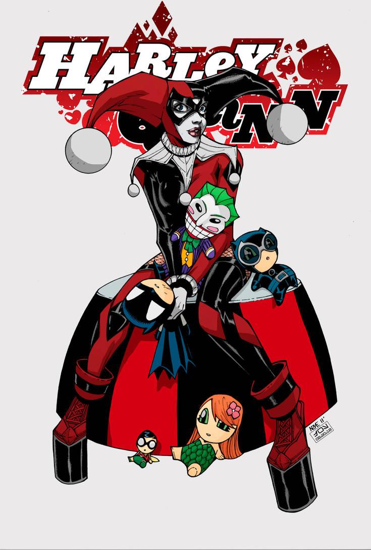DAILY ART POST -BATMAN WEEK (day 3) - HARLEY QUINN by HooliganAlley
