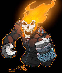 DAILY ART POST - GHOST RIDER by HooliganAlley