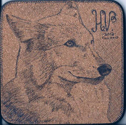 Wolf on Cork by MistressCurlyLocks