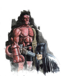 Batman Hellboy 2 by TheRaytrix