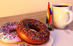 Donuts, Coffee, Pride by KickAir8P