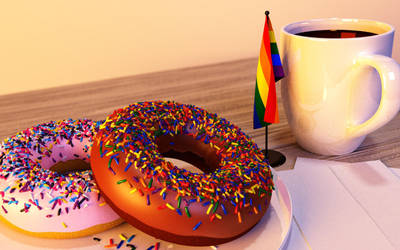Donuts, Coffee, Pride by KickAir8P