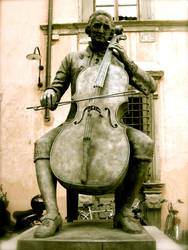 Cellist Statue by ArmyAmber