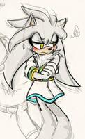 Silver wearing Skirt by Naplez