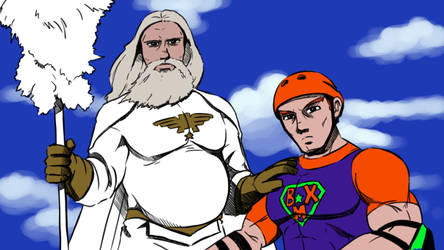 Angel Summoner and BMX Bandit by Teh-Dave