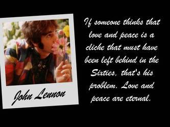 John Lennon- Love and Peace by piratehippy