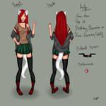 Character Sheet - Kiara the Half Wolf girl UPDATED by xKiaraAngelx