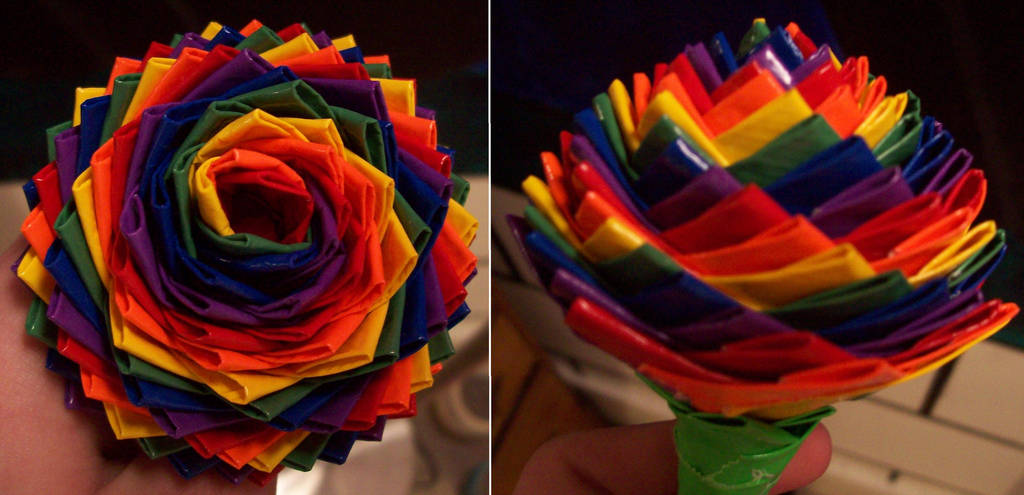 Rainbow Swirl Rose by TheDucttapeBassist