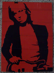 Tom Petty duct tape portrait by TheDucttapeBassist