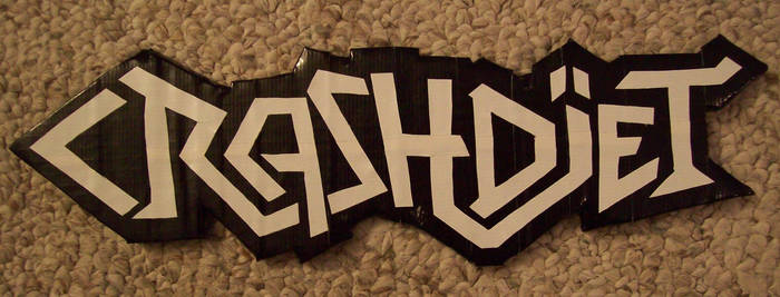 Duct tape Crashdiet logo by TheDucttapeBassist