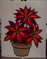 Duct tape Poinsettias by TheDucttapeBassist