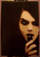 Gerard Way 'I'm Not Okay' duct tape portrait by TheDucttapeBassist