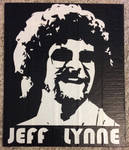 Jeff Lynne two color portrait (duct tape) by TheDucttapeBassist