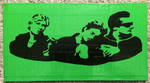 Two color Green Day duct tape portrait by TheDucttapeBassist