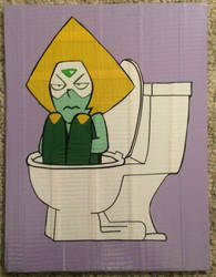 Peridot in the Toilet (duct tape) by TheDucttapeBassist