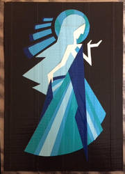 Blue Diamond mural (duct tape) by TheDucttapeBassist