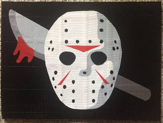 Jason from Friday the 13th (duct tape) by TheDucttapeBassist