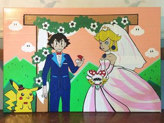 Wedding gift Commission (duct tape) by TheDucttapeBassist