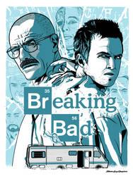 Breaking Bad Screen Print Poster by selkies87